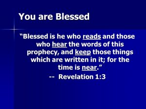 Blessing from the Book of Revelation
