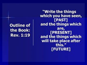 Outline of the Book of Revelation